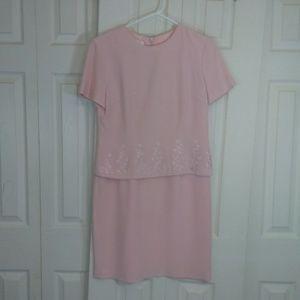 Talbots Blush Pink Silk Dress